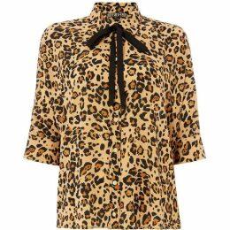 Biba Leopard Print Volume Shirt