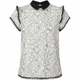 James Lakeland Lace Collar Shirt