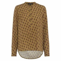 French Connection Elise Crepe Light Collarless Shirt