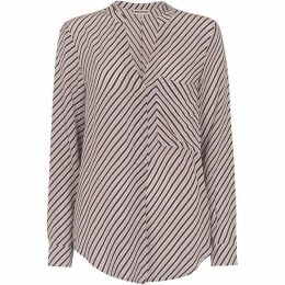 Whistles Contrast Stripe Shirt