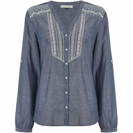 Maison De Nimes DENIM EMBROIDERED SHIRT