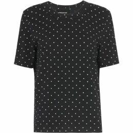 Whistles Spot Rosa Double Trim Tshirt