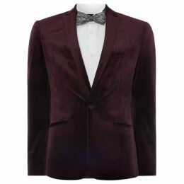 Label Lab Sazerac Skinny Fit Velvet Blazer