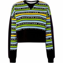 Juicy Couture Racer Stripe Logo Terry Sweatshirt