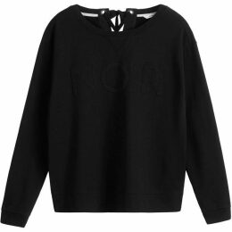 Sandwich Lace Up Detail Sweatshirt