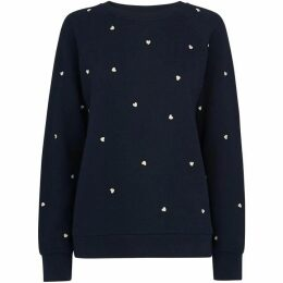 Whistles Heart Embroidered Sweatshirt