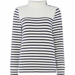 Crew Clothing Company Funnel Sweatshirt Stripe