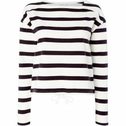 Noisy May Atlas Drawcord Striped Sweatshirt