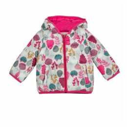 Catimini Light Puffa Jacket With Floral Print