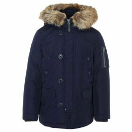 Ralph Lauren Polo Badge Fur Trim Parka