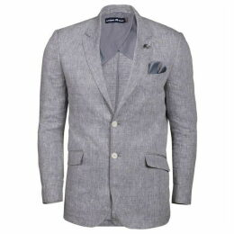 Raging Bull Big And Tall Linen Check Blazer