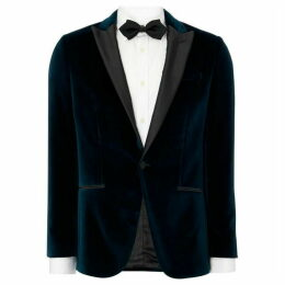Hugo Harvey Peak Lapel Velvet Blazer