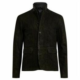 All Saints Survey Leather blazer