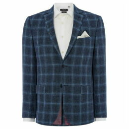 Turner and Sanderson Riley Tailored Fit Linen Check Blazer