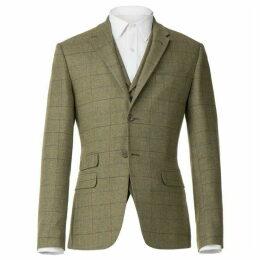 Racing Green Herringbone Check Tailored Jacket