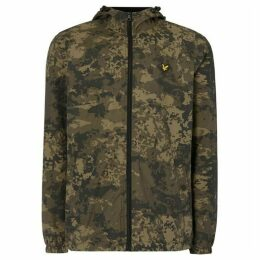 Lyle and Scott Printed Camo Zip Through Hooded Jacket
