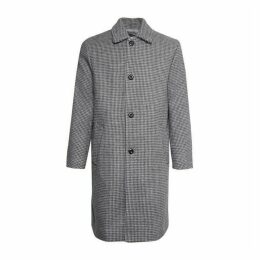 French Connection Double Dogtooth Check Coat