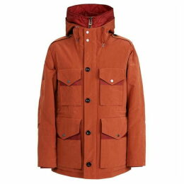 Pretty Green Button Up Hooded Jacket