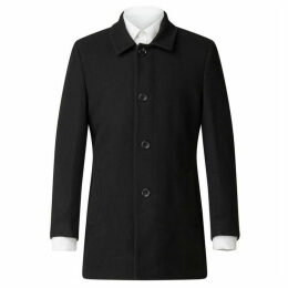 Scott and Taylor Black Melton Car Coat
