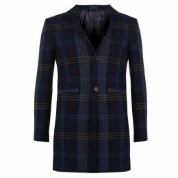 Label Lab Holgate Tonal Checked Notch Lapel Coat