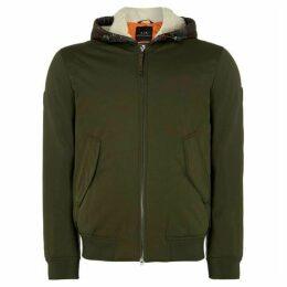 Armani Exchange Two-in-One Hooded Camo Bomber Jacket
