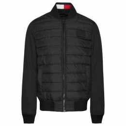 Tommy Hilfiger Stripe Rib Quilted Bomber Jacket