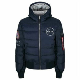 Alpha Industries Hooded Puffer Apollo 11 Bomber Jacket
