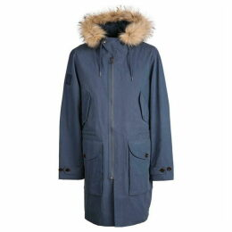 Pretty Green Faux Fur Trim Hooded Parka