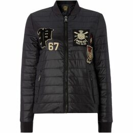 Polo Ralph Lauren Black Embroidered Puffa Coat