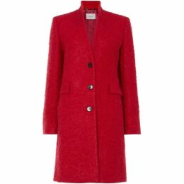 Marella Fluffy wool single breasted coat