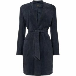 Max Mara Weekend Suede tie waist jacket