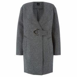 Armani Exchange Long Line Eyelet Detail Coat