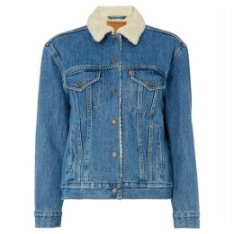 Levis Sherpa Embroidered Trucker Jacket
