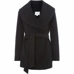 Linea Shawl collar belted coat