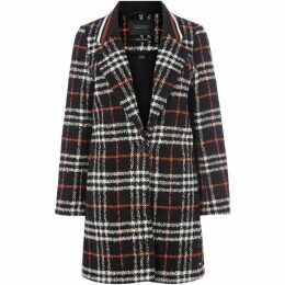 Maison Scotch Bonded wool jacket with rib collar