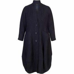 Chesca Textured Jacquard Notch Neck Coat