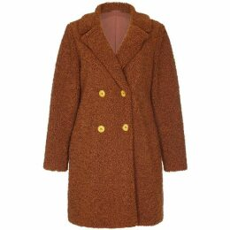 Yumi Double Breast Teddy Bear Coat