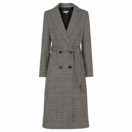 Whistles Penelope Belted Check Coat
