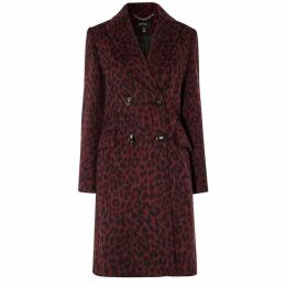 Karen Millen Leopard Print Tailored Coat