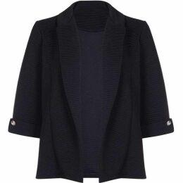 Mela Ribbed Button Detail Jacket