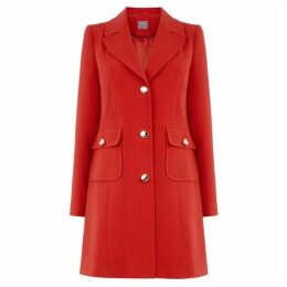 Oasis Double Crepe Pocket Coat