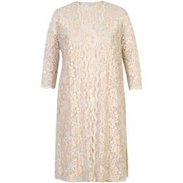 Chesca 2 Tone Scallop Lace Coat