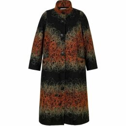 Chesca Scribble Embroidered Long Coat