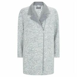 Mint Velvet Silver Grey Salt And Pepper Coat
