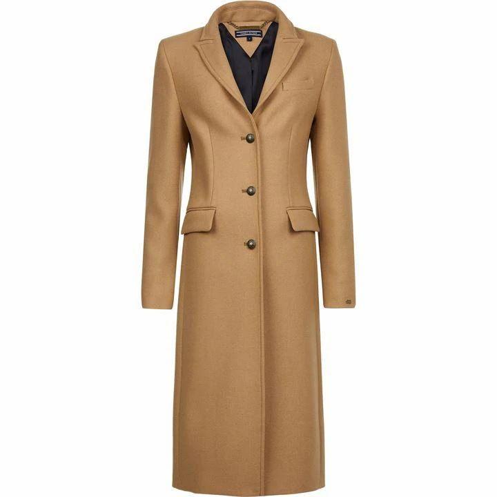 Tommy Hilfiger Belle Long Wool Coat
