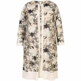 Chesca Embroidered And Sequin Chiffon Trim Coat