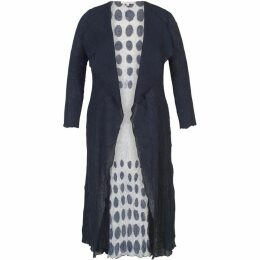 Chesca Spot Trim Crush Pleat Coat