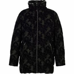 Chesca Flocked Padded Coat With Concealed Hood