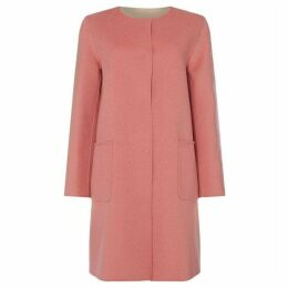 Max Mara Weekend Giura collarless double pocket coat