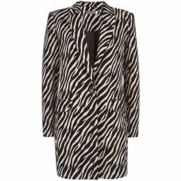 Mint Velvet Zebra Jacquard Coat